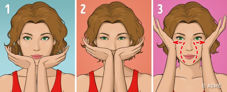 Японский массаж лица избавит от морщин и отеков за 5 минут в день
