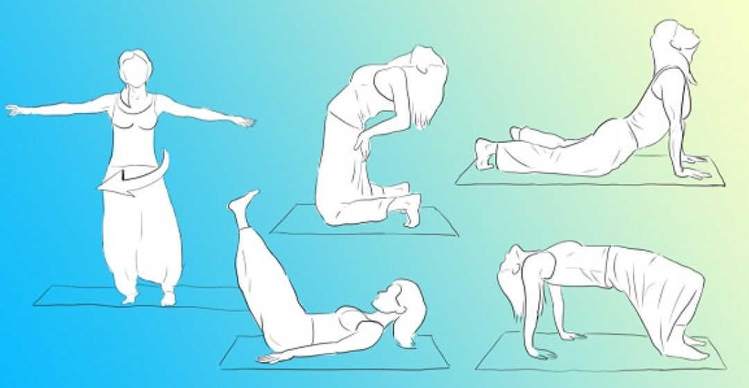 10 тибетских упражнений для всех возрастов: развитие памяти, воли, интеллекта, укрепление позвоночника, шеи и рук