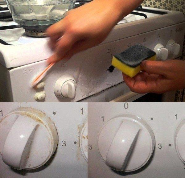 Копеечное средство, которое легко очищает ручки плиты!