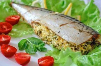 Очень вкусная рыбка — сытная. И начинка великолепно сочетается со вкусом скумбрии.
