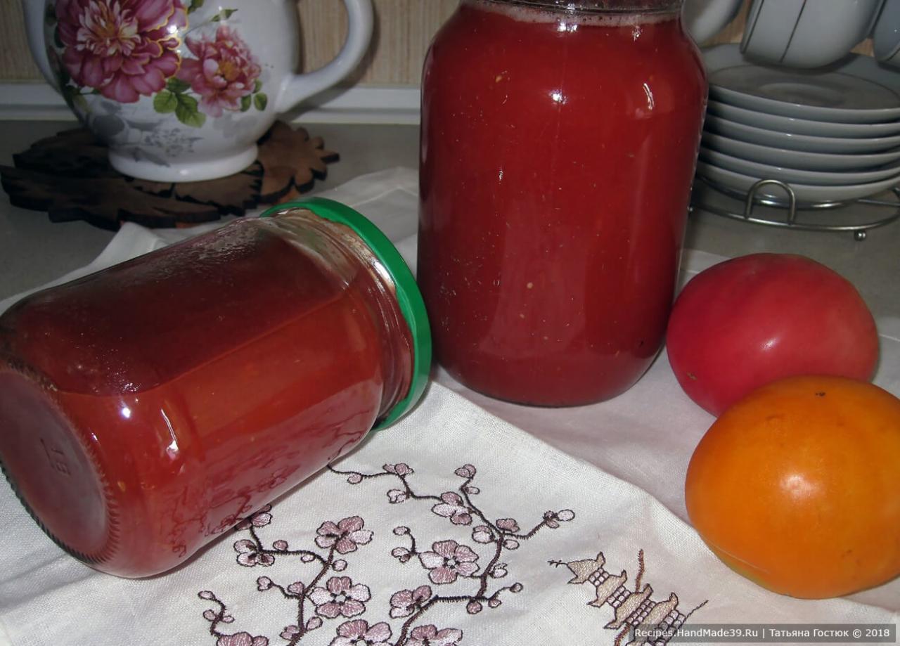 Готовим вкуснейший томатный сок необычным образом без соковыжималки